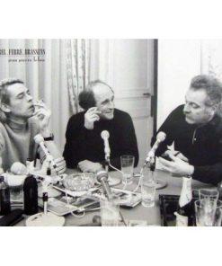 Affiche Brel Brassens Ferre - Émission Radio - 50x70 cm