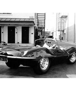 Affiche Bullitt - Steve Mc Queen et sa Jaguar - Affiche 50x70 cm