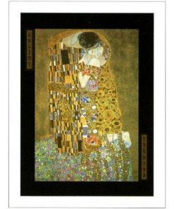"""Affiche Gustav Klimt """"The Kiss"""" 60x80 cm"""