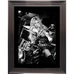 Affiche encadrée Noir et Blanc: Brigitte Bardot - En Harley Davidson - 50x70 cm (Cadre Glascow)
