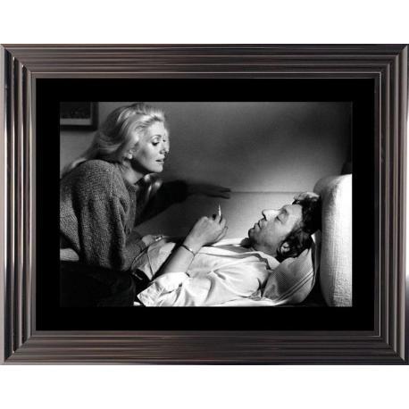 Affiche encadrée Noir et Blanc: Je vous aime - Deneuve Gainbourg - 50x70 cm (Cadre Glascow)