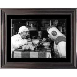 Affiche encadrée Noir et Blanc: La Soupe aux Choux - 50x70 cm (Cadre Glascow)