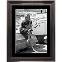 Affiche encadrée Noir et Blanc: St Trop - Bardot - 50x70 cm (Cadre Glascow)