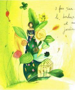 Carte Anne-Sophie Rutsaert - 3 fois rien... Le bonheur est au jardin ... - 14x14 cm