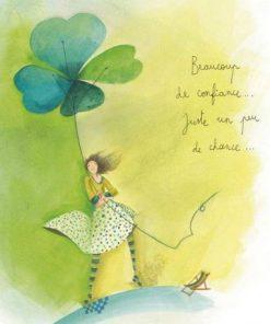 Carte Anne-Sophie Rutsaert - Beaucoup de confiance...juste un peu de chance... - 14x14 cm