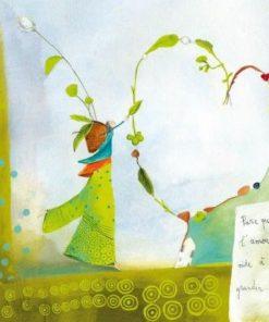 Carte Anne-Sophie Rutsaert - Parce que l'amour aide à grandir... - 14x14 cm