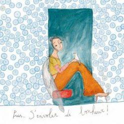 Carte Anne-Sophie Rutsaert - Puis...S'envoler de bonheur! - 14x14 cm