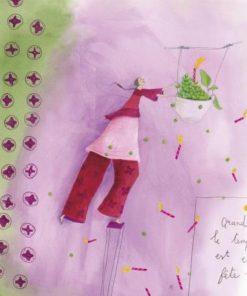 Carte Anne-Sophie Rutsaert - Quand le temps est en fête... - 14x14 cm
