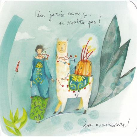 Carte Anne-Sophie Rutsaert - Une journée comme ça... ne s'oublie pas ! - 14x14 cm