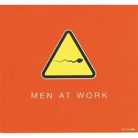 Carte Born 2B - Men at work - 13.5x14.5 cm