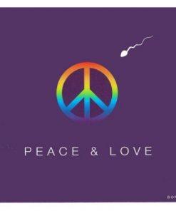 Carte Born 2B - Peace and love - 13.5x14.5 cm