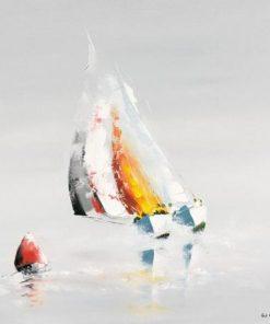 Carte Gérard de_Courcy - La bouée rouge - 14x14 cm