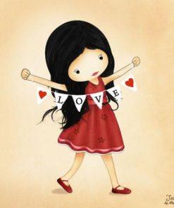 Carte Jolinne - Love is all that matters - 14x14 cm