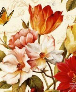 Carte Lisa Audit - Poésie florale III - 14x14 cm
