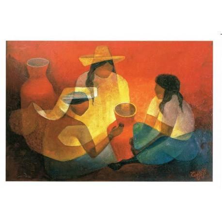 Carte Louis Toffoli - La famille mexicaine 1989 - 10x15.5 cm