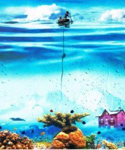 Carte Maïlo - Ma cabane sous la mer - 14x14 cm