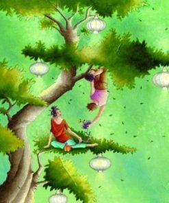 """Carte Marie-Anne Foucart """"Dans l'arbre"""" 14x14 cm"""