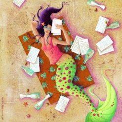 """Carte Marie-Anne Foucart """"Dans les filets"""" 14x14 cm"""
