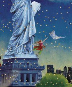 """Carte Marie-Anne Foucart """"La Statue de la Liberté (milieu)"""" 14x14 cm"""