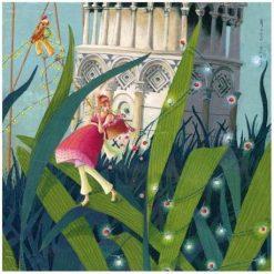 """Carte Marie-Anne Foucart """"La Tour de Pise (bas)"""" 14x14 cm"""