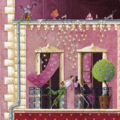 """Carte Marie-Anne Foucart """"Le Saint Amour (milieu)"""" 14x14 cm"""