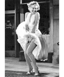 Carte Marilyn Monroe - La Robe - 10.5x15 cm