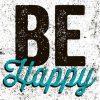 Carte Michael Mullan - Be Happy - 14x14 cm