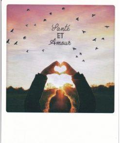Carte Noël Pickmotion de @Mrtin - Santé et Amour - 10.5x13 cm