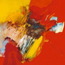 Carte Pascal Magis - Triptyque rouge II - 14x14 cm