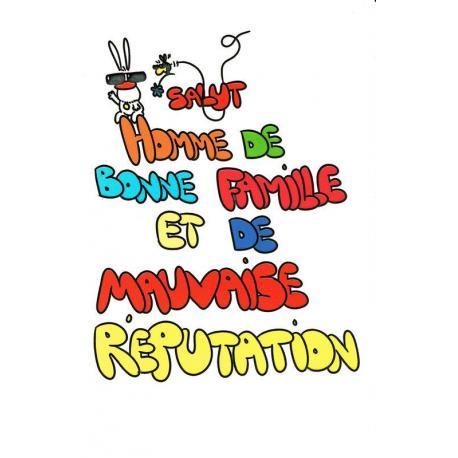 Carte Show Lapin Salut Homme De Bonne Famille Carte Anniversaire