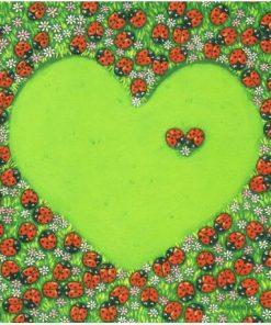 Carte Titi Pinson : Christine Donnier - Amour...un seul coeur - 13.5x13.5 cm