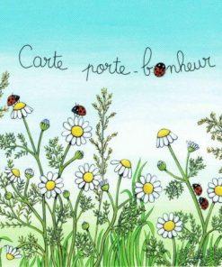 Carte Titi Pinson : Christine Donnier - Porte-bonheur - 13.5x13.5 cm
