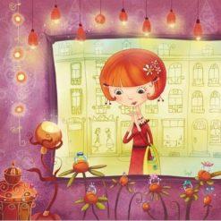 Carte Valérie Willame - Dans la vitrine - 14x14 cm
