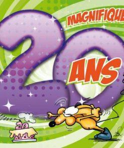 Carte Ze Souris - 20 ans Magnifique! Profite bien du... - 15x15 cm