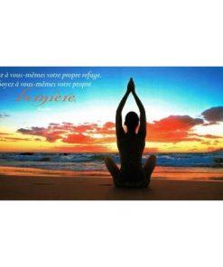 Carte citation Bouddha - ... Soyez à vous même votre propre lumière. - 11x21 cm