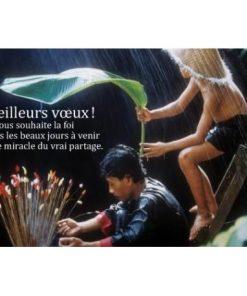 """Carte de Voeux citation """"Je vous souhaite la foi..."""" - 12x17 cm"""
