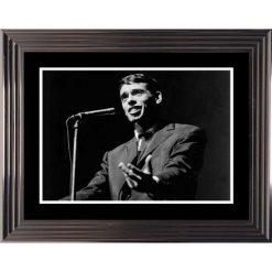 Affiche encadrée Noir et Blanc: Jacques Brel - Concert - 50x70 cm (Cadre Glascow)