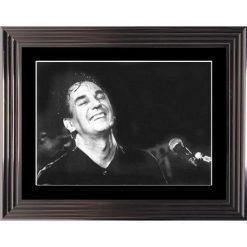 Affiche encadrée Noir et Blanc: Jacques Higelin - En concert - 50x70 cm (Cadre Glascow)
