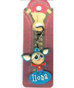 Porte-clés Zipper prénom ILONA - 6.5x3 cm env
