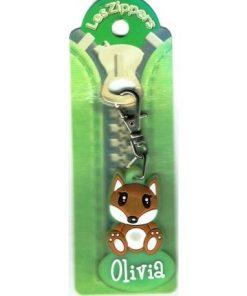 Porte-clés Zipper prénom OLIVIA - 6.5x3 cm env