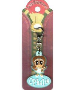 Porte-clés Zipper prénom OPHELIE  - 6.5x3 cm env