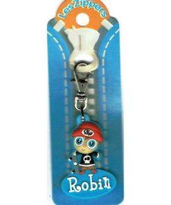 Porte-clés Zipper prénom ROBIN - 6.5x3 cm env