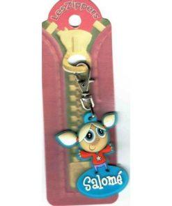 Porte-clés Zipper prénom SALOME - 6.5x3 cm env