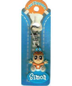 Porte-clés Zipper prénom SIMON - 6.5x3 cm env