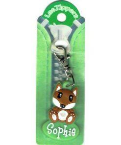 Porte-clés Zipper prénom SOPHIE - 6.5x3 cm env