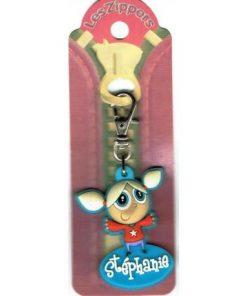 Porte-clés Zipper prénom STEPHANIE - 6.5x3 cm env