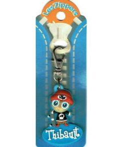 Porte-clés Zipper prénom THIBAULT - 6.5x3 cm env
