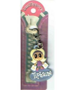 Porte-clés Zipper prénom TIPHAINE - 6.5x3 cm env