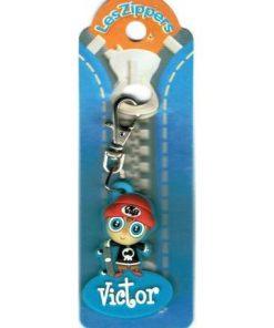 Porte-clés Zipper prénom VICTOR - 6.5x3 cm env
