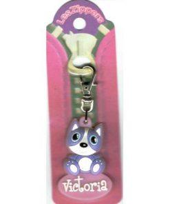 Porte-clés Zipper prénom VICTORIA- 6.5x3 cm env